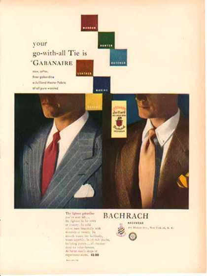 Bachrach Neckwear Fashion – Gabanaire, New York (1949)