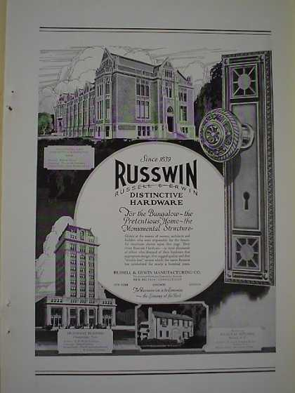 Russwin Russell Erwin Hardware Provident Bldg Chatanooga TN University of Washington Seattle (1926)
