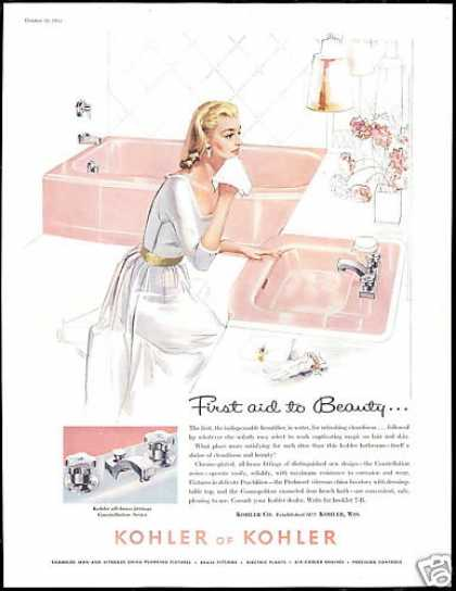 Pretty Woman Pink Bathroom Kohler Fixture (1958)
