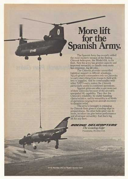 Spanish Army Boeing Chinook 414 Helicopter (1982)