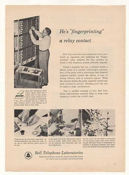 Bell Telephone Lab Fingerprinting Relay Contact (1955)
