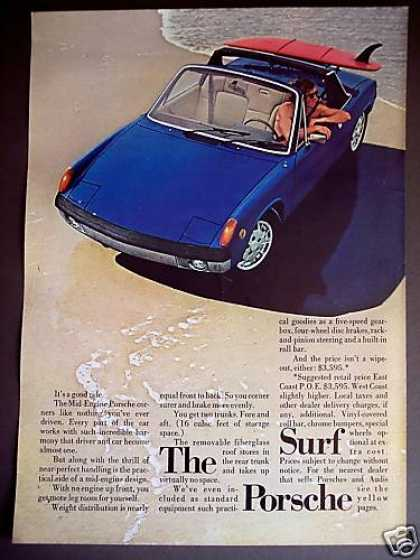 Porsche Mid-engine Convertible Sports Car Photo (1971)