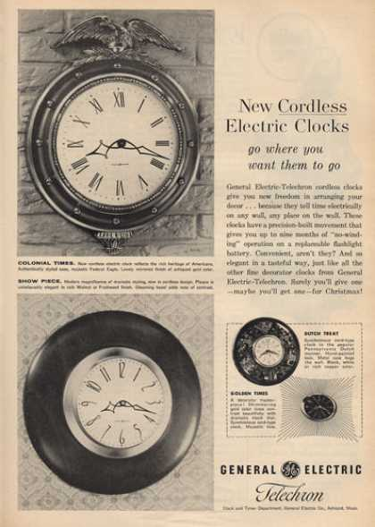General Electric Colonial Times Show Clocks (1959)