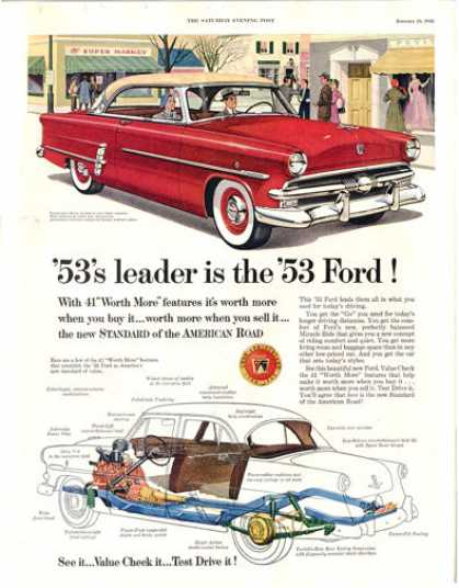Crestline Cutaway View Ford Downtown Scene (1953)
