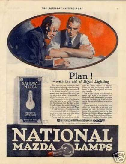 National Mazda Lamps Color (1921)