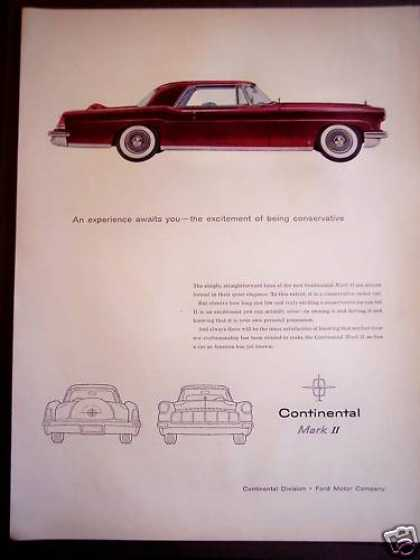 Red Ford Continental Mark Ii Car (1956)