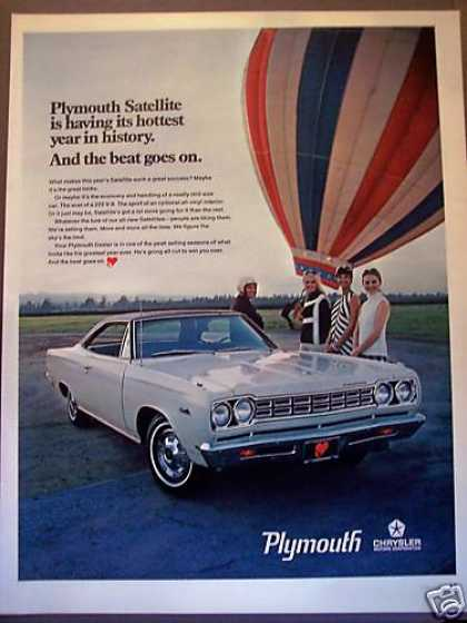 Hot Air Balloon Plymouth Satellite Car Photo (1968)