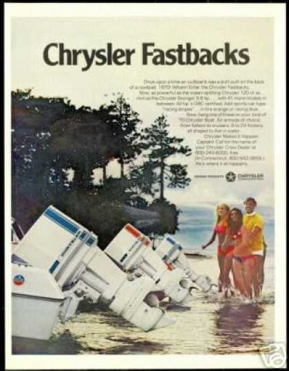 Chrysler Outboard Boat Motor Racing Stripes (1970)