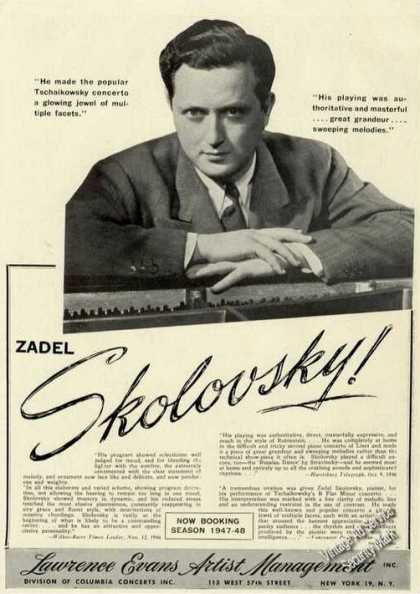 Zadel Skolovsky Photo Piano Trade (1947)