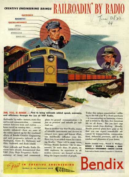 Bendix Aviation Corporation's VHF Radio – Creative Engineering Brings Railroadin' By Radio (1944)