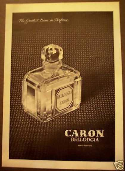 Bellodgia Caron Perfume France (1962)