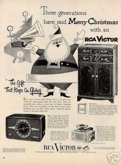 Rca Victor Phonograph Ad Model 21t178 (1951)