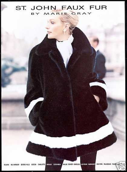 St John Faux Fur Coat Photo Marie Gray (1996)