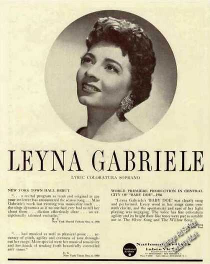 Leyna Gabrielle Photo Lyric Coloratura Soprano (1959)