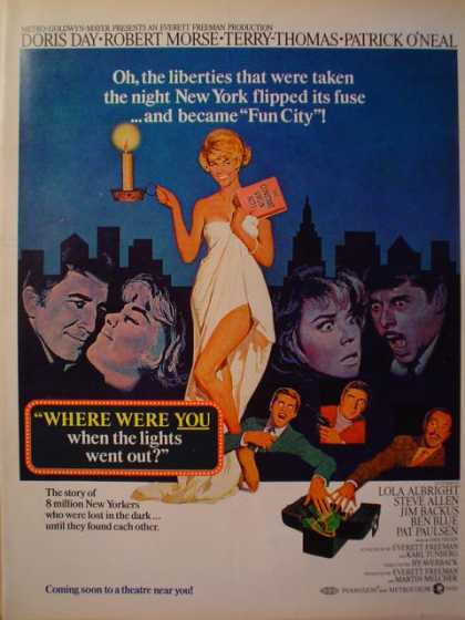 Movie Where were you when lights went out Doris Day (1968)