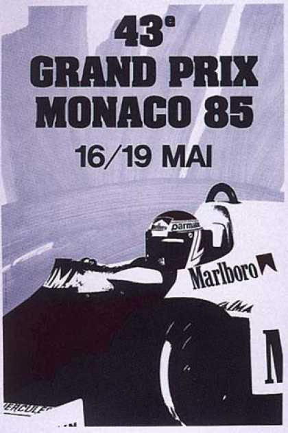 Monaco Grand Prix by Geo Ham (1985)