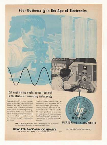 '53 Hewlett-Packard Electronic Measuring Instruments (1953)