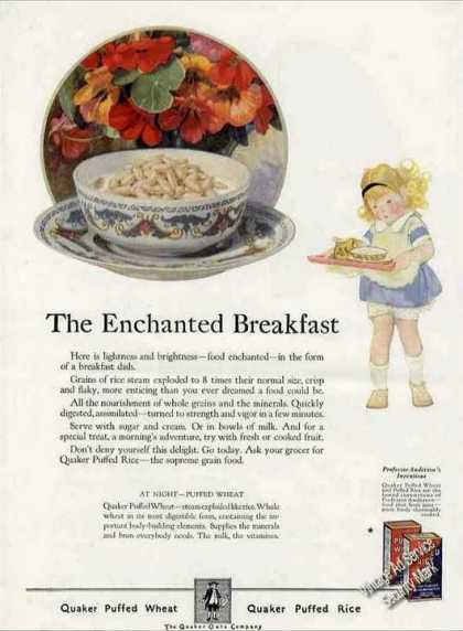 Quaker Puffed Wheat & Rice Enchanted Breakfast (1924)