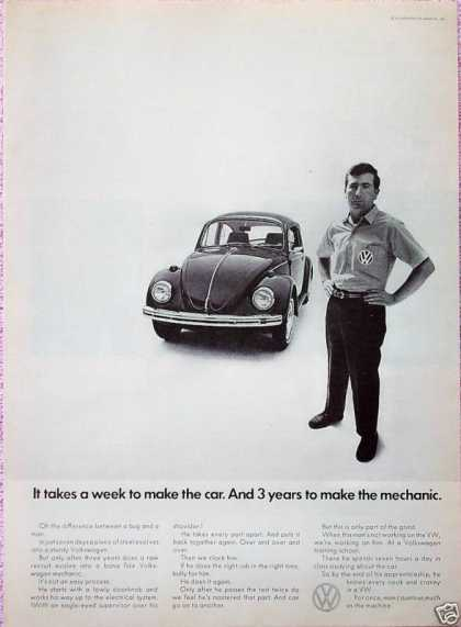 Volkswagen Beetle Bug Week Make Car Years Mechanic (1968)