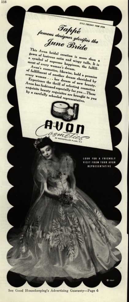 Avon – Tappe famous designer glorifies the June Bride (1941)