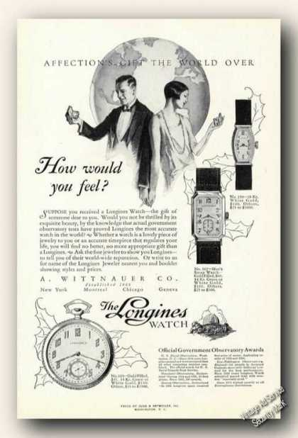 The Longines Watch How Would You Feel Gift (1926)