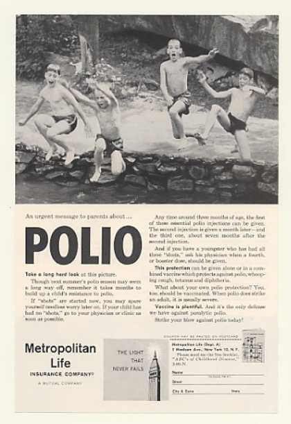 Metropolitan Life Insurance Polio Boys Swimming (1960)