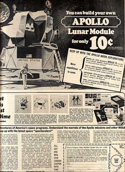 Science Program&#8217;s Apollo Lunar Module Kit (1970)