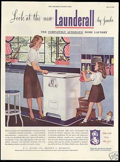Jacobs Launderall Washing Machine Doll Dress (1946)