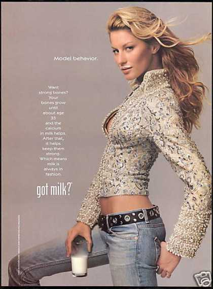 Gisele Bundchen Model Milk Board (2001)