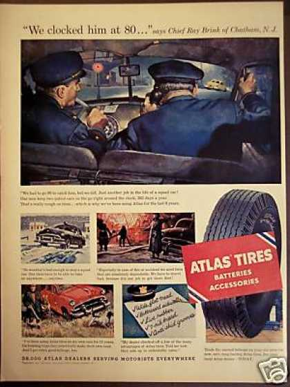 Police Chief Ray Brink Chatham Nj Atlas Tires (1953)