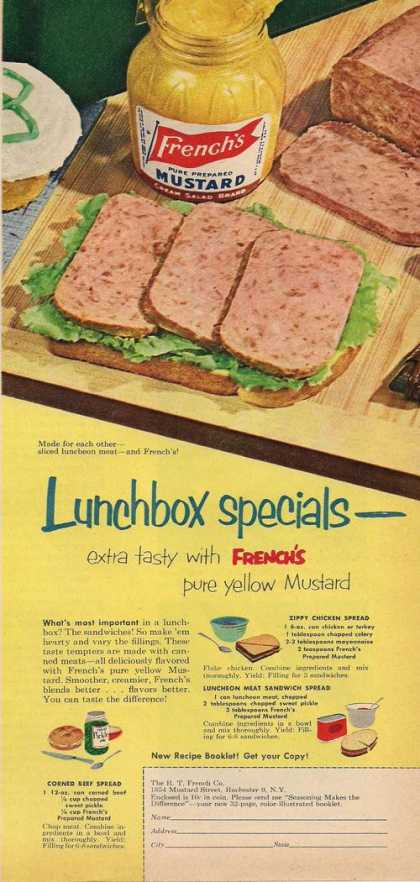 Frenchs Lunchbox Special Mustard (1953)