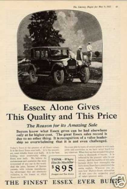 "Essex Car Ad ""Essex Alone Gives... (1925)"