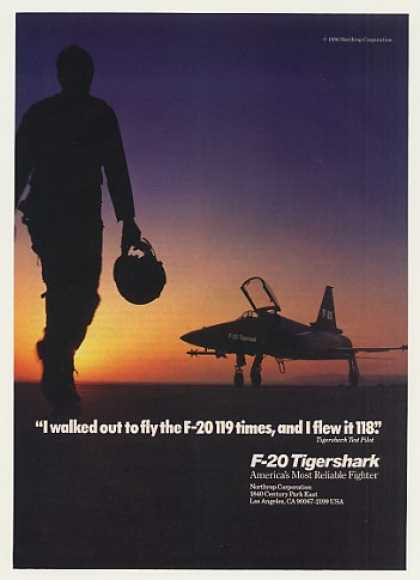 Northrop F-20 Tigershark Aircraft Test Pilot (1986)