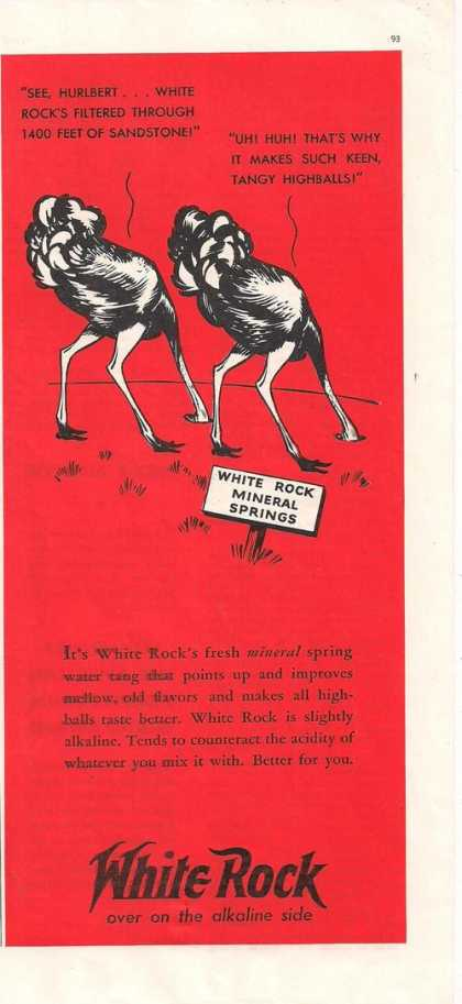White Rock Mineral Spring Water (1938)
