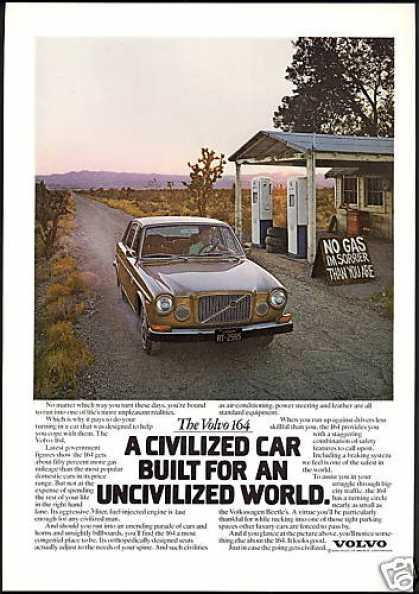 Volvo 164 Car Photo Print Vintage (1974)