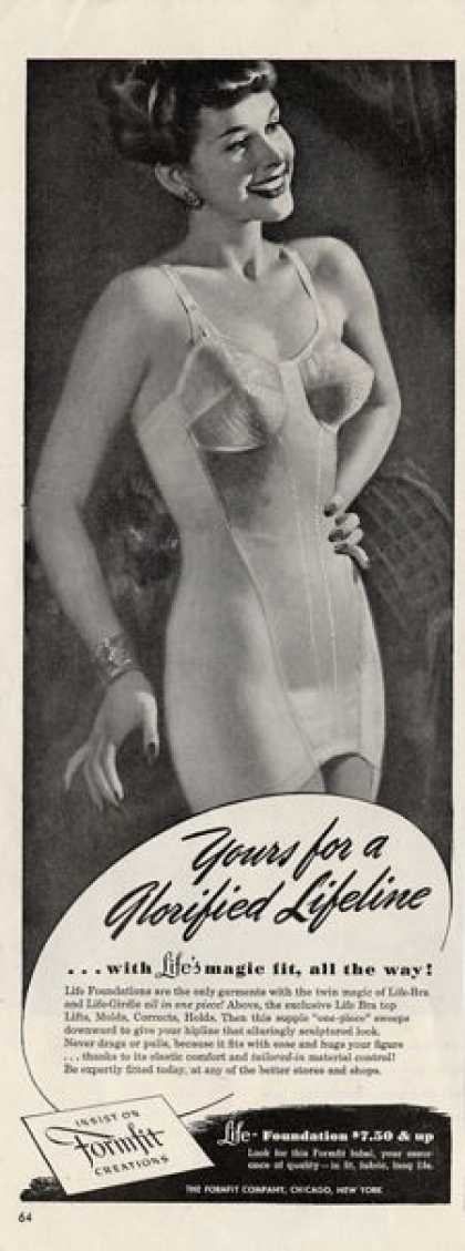 Women's Vintage Underwear Ads