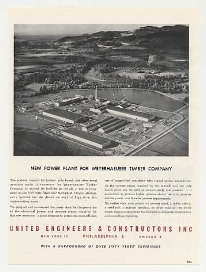 Weyerhaeuser Timber Plant Springfield OR Photo (1949)