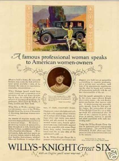 Willys-knight Great Six Car Color (1926)