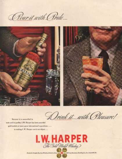 Pour It With Pride I W Harper Whiskey Prin (1942)