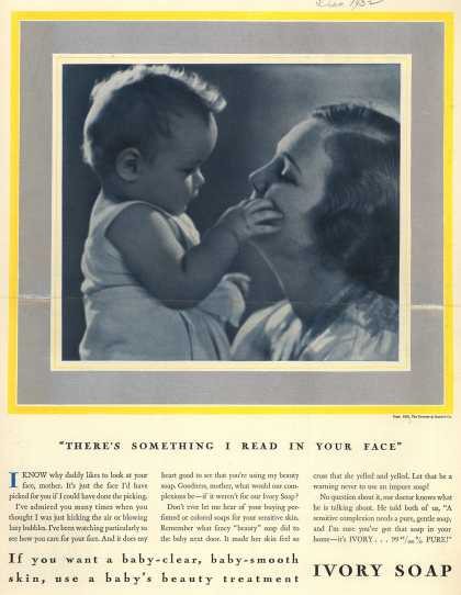 "Procter & Gamble Co.'s Ivory Soap – ""There's Something I Read in Your Face"" (1932)"