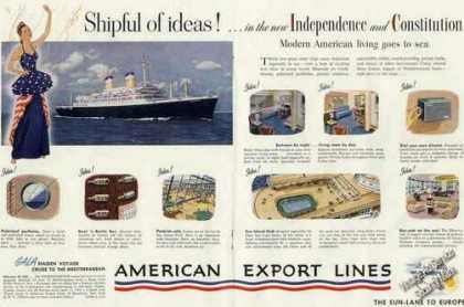Independence & Constitution Cruise Ships Photos (1950)