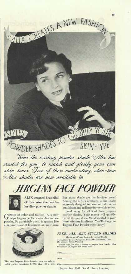 Jergens Womens Face Powder (1941)