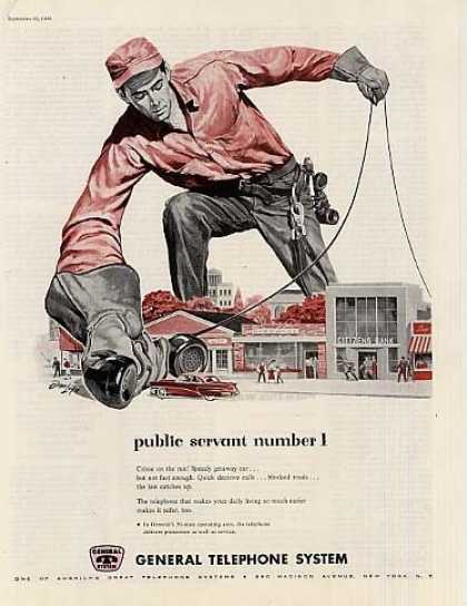 "General Telephone Company Ad ""Public Servant... (1956)"