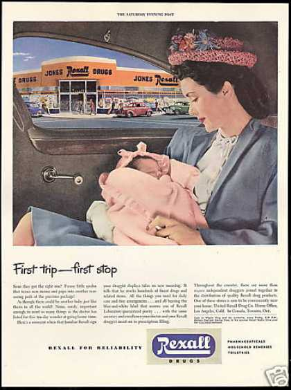 New Mother Baby Jones Rexall Drug Store (1946)