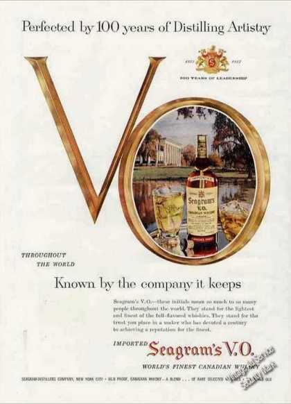 "Seagrams V.o. ""100 Years of Distilling Art"" (1957)"