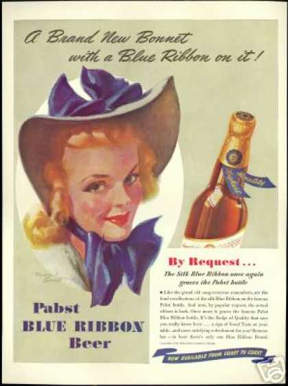 Pabst Beer Pretty Woman Bradshaw Crandall Art (1940)