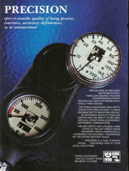 Farallon Instruments Diver Depth Gauges (1980)