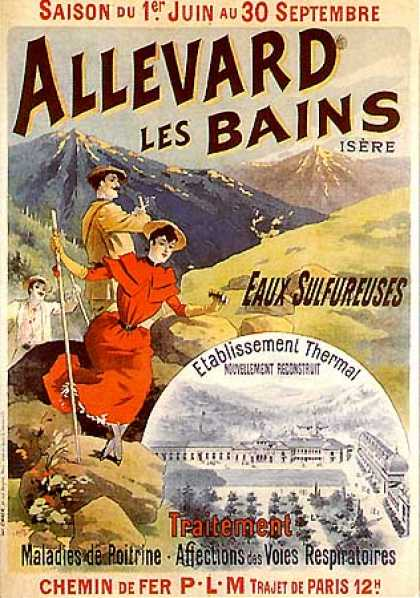 Allevard les Bains by L. Baylac (1900)