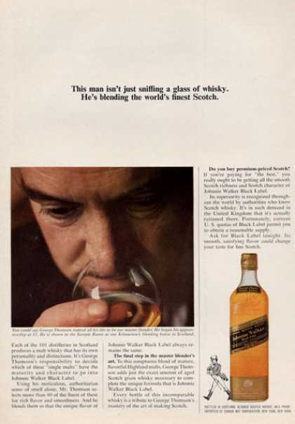 Johnnie Walker Scotch Whisky Blending Smell (1964)
