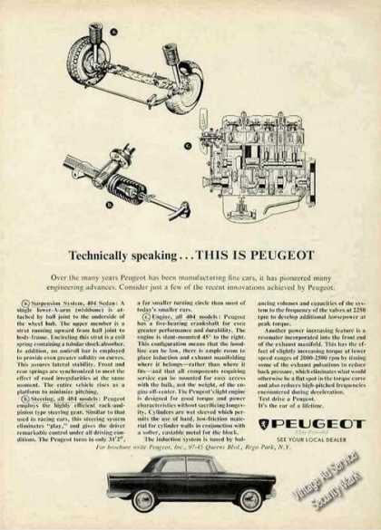 "Peugeot ""Technically Speaking"" (1964)"